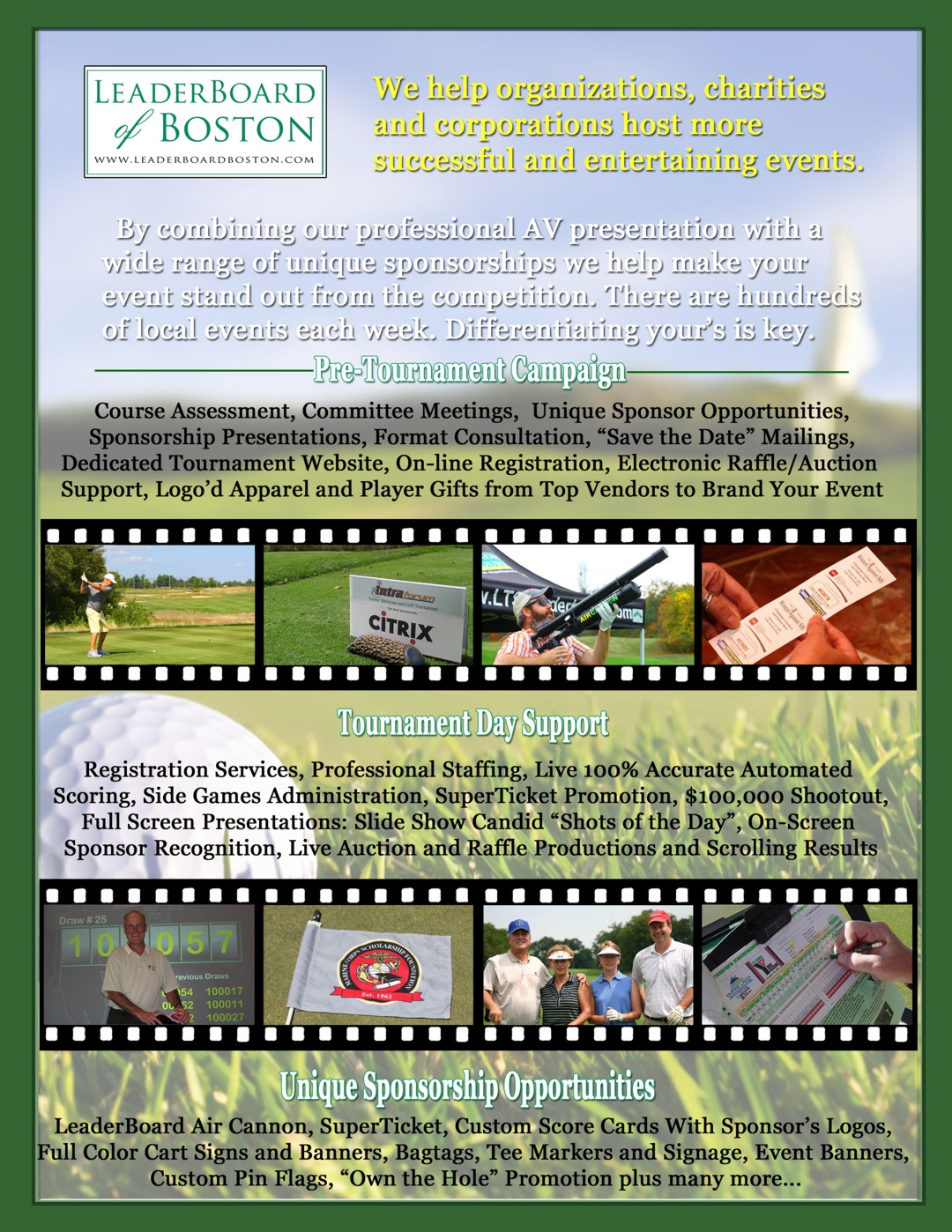 Golf Event Services Brochure